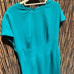 Turquoise dress, good condition, lining